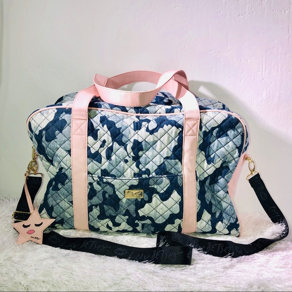 Betsey Johnson Handbags - Betsey Johnson Camo Duffle Bag